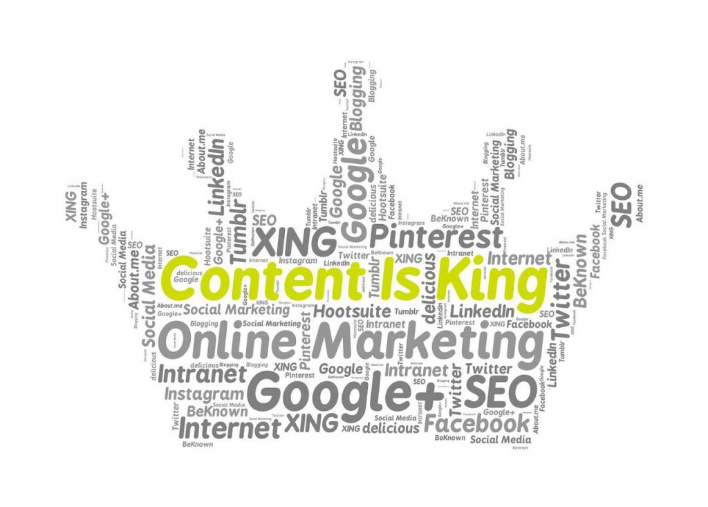 Benefits of Blog content is king crown