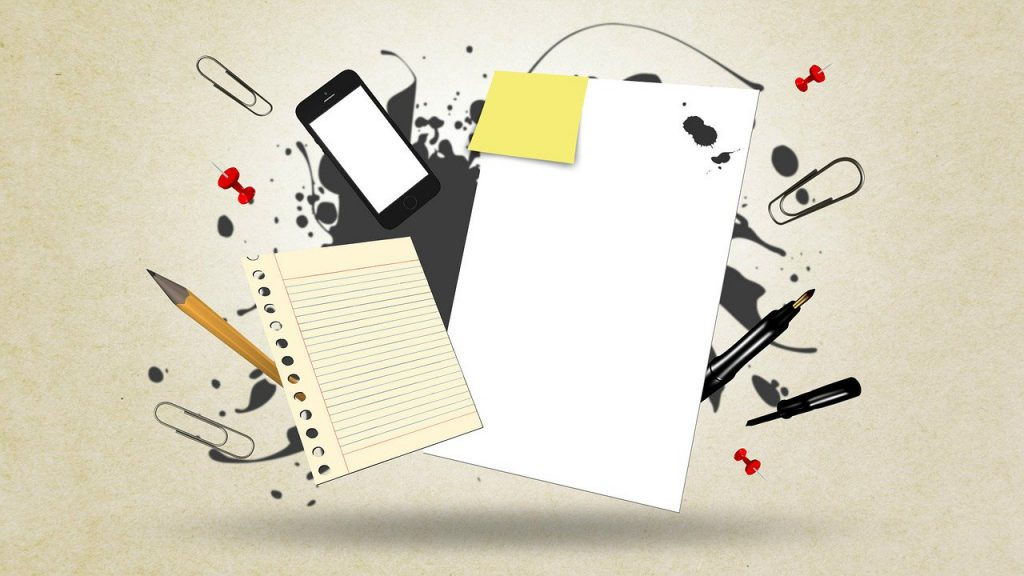 notes paper pen pencil for writing