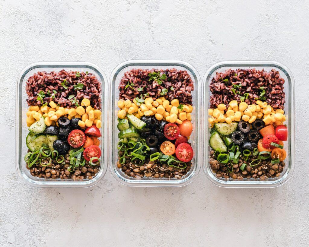 Prep meals three tray foods