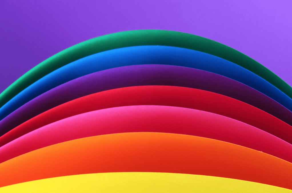 brand awareness with a colorful rainbow to show how to differentiate your business.