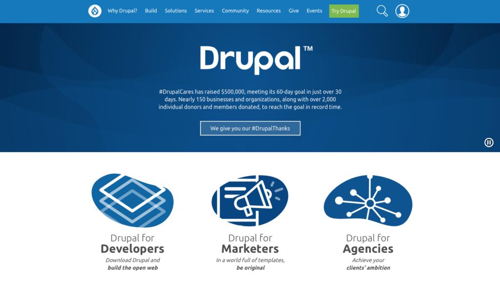 Drupal blogging platform