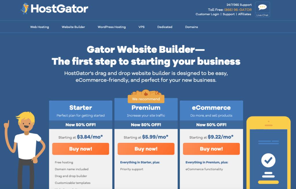 Gator website builder for blogging