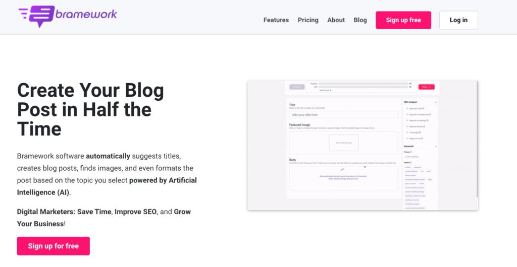 Bramework Blog builder